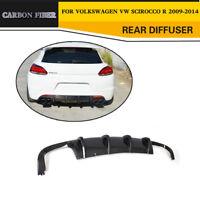 Carbon Fibre Rear Bumper Diffuser Spoiler Fit for Volkswagen VW Scirocco R 09-14