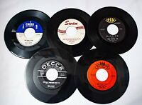 Early Rock & Roll Lot of 5 - 45s Chuck Berry Johnny & Hurricanes Dicky Doo