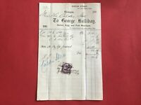 George Halliday 1894 Butter Egg Fish Merchant  Glasgow   receipt R33520