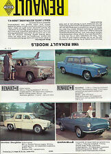 1966 RENAULT MODELS RANGE FOLD OUT BROCHURE.