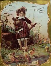 McLaughlin's XXXX Coffee Pond Adorable Girl With Doll Ducklings Swimming *K