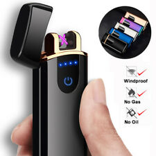 Smart Touch Sensor USB Rechargeable Double Arc Flameless Plasma Electric Lighter