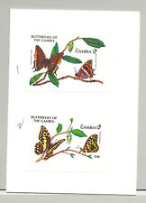Gambia #1076-1079 Butterflies 4v S/S Imperf Proofs Mounted in 2 Folders
