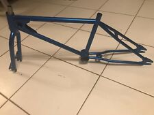 OLD SCHOOL BMX CYCLONE FRAME & DUAL DROPOUT FORKS POWDERCOATED CANDY BLUE