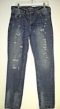 Mens, Rue 21, CJ Black Jeans, 34x34, Distressed/Destructed, Jeans, Slim Fit