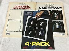 KISS 3 Promotional Ads Promo Solo Albums 1978 Clippings Mini Posters Aucoin Ace