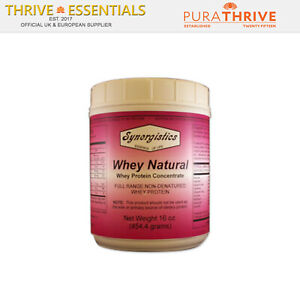 Whey Protein Natural Organic Synergistics 16 Oz with Natural Vanilla flavouring