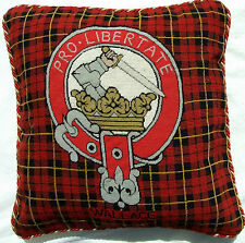 Wallace Cushion Cover  Scottish Clan Needlepoint Tapestry  Scotland Tartan