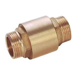 BRASS BSPP SPRING CHECK VALVE - MALE x MALE