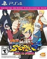 PLAYSTATION 4 PS4 VIDEO GAME NARUTO SHIPPUDEN ROAD TO BORUTO NEW AND SEALED