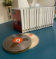 """BASF Reel to reel Tapes-Used (Recorded) 7""""- 1800 Ft. Lot of 15 tapes in Cases"""