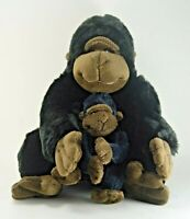 """Kohls Cares 10"""" Sitting Mother Gorilla with 5"""" Baby - Mint Conditon"""