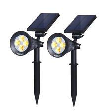 Nekteck Solar Powered Garden Spotlight (2-Pack, Warm White - 2300K)