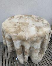 Fur Medieval Association Patchwork Lambskin Throw Sheepskin Tuscany Blanket