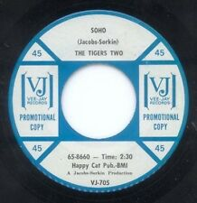 TIGERS TWO - SOHO b/w THEY CALL HER FLAME - VEE JAY - PROMO 45
