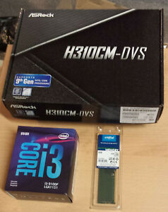 Aufrüstkit Intel Core i3-9100F So. 1151 v2, ASRock MB u. 8 GB DDR4 Crucial