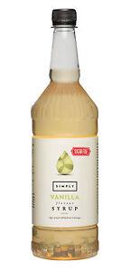 Simply Sugarfree Flavour Sirup Vanilla 1 L, Vanille Kaffeesirup ohne Zucker, PET