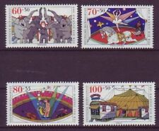 Briefmarken aus der BRD (1980-1989) mit Zirkus-Motiv als Satz