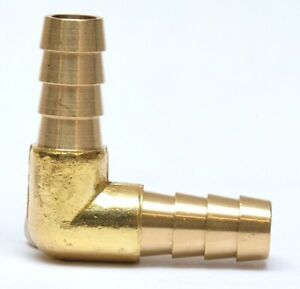 "Hose ID 3/8"" Barb Mender 90 Degree Elbow Fitting also fits 10 mm Brass Fuel Air"