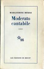 RARE EO 1958 + MARGUERITE DURAS + DÉDICACE À JEAN POUILLON : MODERATO CANTABILE