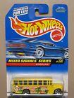 NIP Mattel Hot Wheels School Bus - Mixed Signals Series  #736 (#4/4)