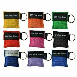 CPR Face Mask Key Chain Kit - Face Shield Masks ( 50-pack ) MULTI COLORS