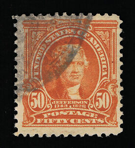 VERY AFFORDABLE GENUINE SCOTT #310 F-VF USED 50¢ ORANGE BUREAU ISSUE #11834