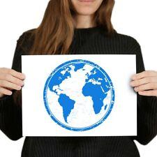 Planet Earth PUNTO CROCE KIT CON CERCHIO-Globe contati Punto Croce Kit