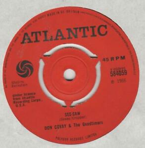 Don Covay Goodtimers See saw   Atlantic 584059 VG+ clean