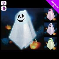LIGHT UP LED GHOST HALLOWEEN 45cm PROP HANGING PARTY DECORATION SCENE SETTER