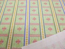 5 metros verde y rosa de rayas VEGA Barroco Estampado 100% Algodón Tela cortina