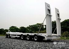 3 + 2 Axis Full Metal Semi Trailer with Hook for Tamiya 1/14 Tractor Truck Nib