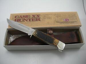 2002 CASE XX KNIFE #647-5 SS BONE SLAB SIDE KNIFE NEVER USED BOX