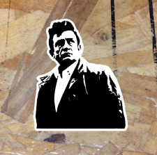 tumblers Rock n Roll Gitar Johnny Cash Stickers Johnny Cash Decal Vinyl car bamper Laptop Truck 9 inch Any Size