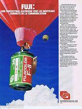 PUBLICITE ADVERTISING 095 1981 Fuji pellicule fujicolor F-11