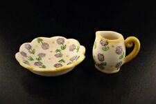 Miniature Dollhouse Fairy Garden Purple Flower Pitcher & Basin Set-Buy 3 Save $5