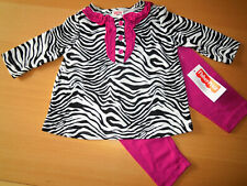 Baby Mädchen Kleid Set 2tlg KLEID + Leggings 🐞 Langarm  ZEBRA  🐞 NEU