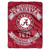 Northwest NOR-1COL080200018RET 60 x 80 Alabama Crimson Tide NCAA Royal Plush