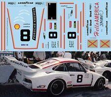 1/12 Decals Porsche 935 24 H Daytona 1977 8 Jost Wollek Kreb Decal TBD487