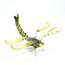 Figurine glass DRAGONFLY Murano Art. Miniature Home Decor handmade insect. VIDEO