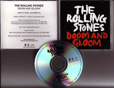 "ROLLING STONES ""Doom and Gloom"" US  1 Track Promo CD EXTREME RARE"