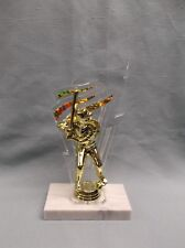 baseball trophy batter gold backdrop award wide marble base