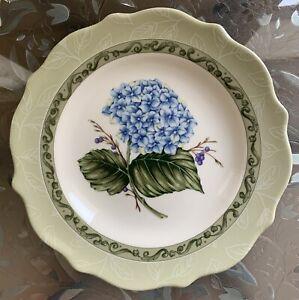 "Princess House Vintage Garden Hydrangea Salad/Luncheon Plate 9"""