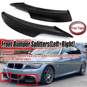 Stoßstange Spoiler Splitter Flaps Lippe für BMW E90 E91 328i LCI M-Tech 2009-12
