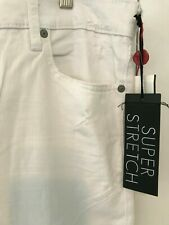 authentic TRUE RELIGION ROCCO relaxed skinny Men's white Jeans, SUPERSTRETCH