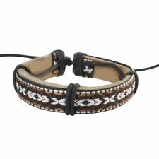 Vintage Handmade Genuine Leather Bracelet for Men Punk Surfer Braided Bracelet