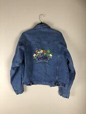 Rugrat Nickelodeon Denim Jeans Jacket Blue Vintage Universal Medium