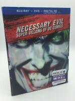 Necessary Evil: Super-Villians of DC (Blu-ray+DVD+Digital HD, 2013) NEW w/ Slip