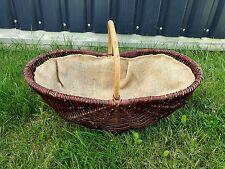 Kaminkorb XXL Groß Weide Holzkorb mit Jute 72 cm