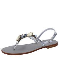 scarpe donna EDDY DANIELE 37 EU sandali argento pelle swarovski AX872-37